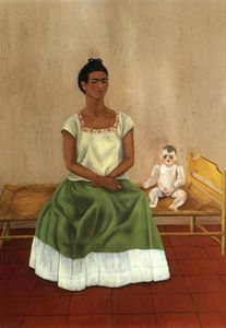 me and my puppe l von frida kahlo 1907 1954 mexico. Black Bedroom Furniture Sets. Home Design Ideas