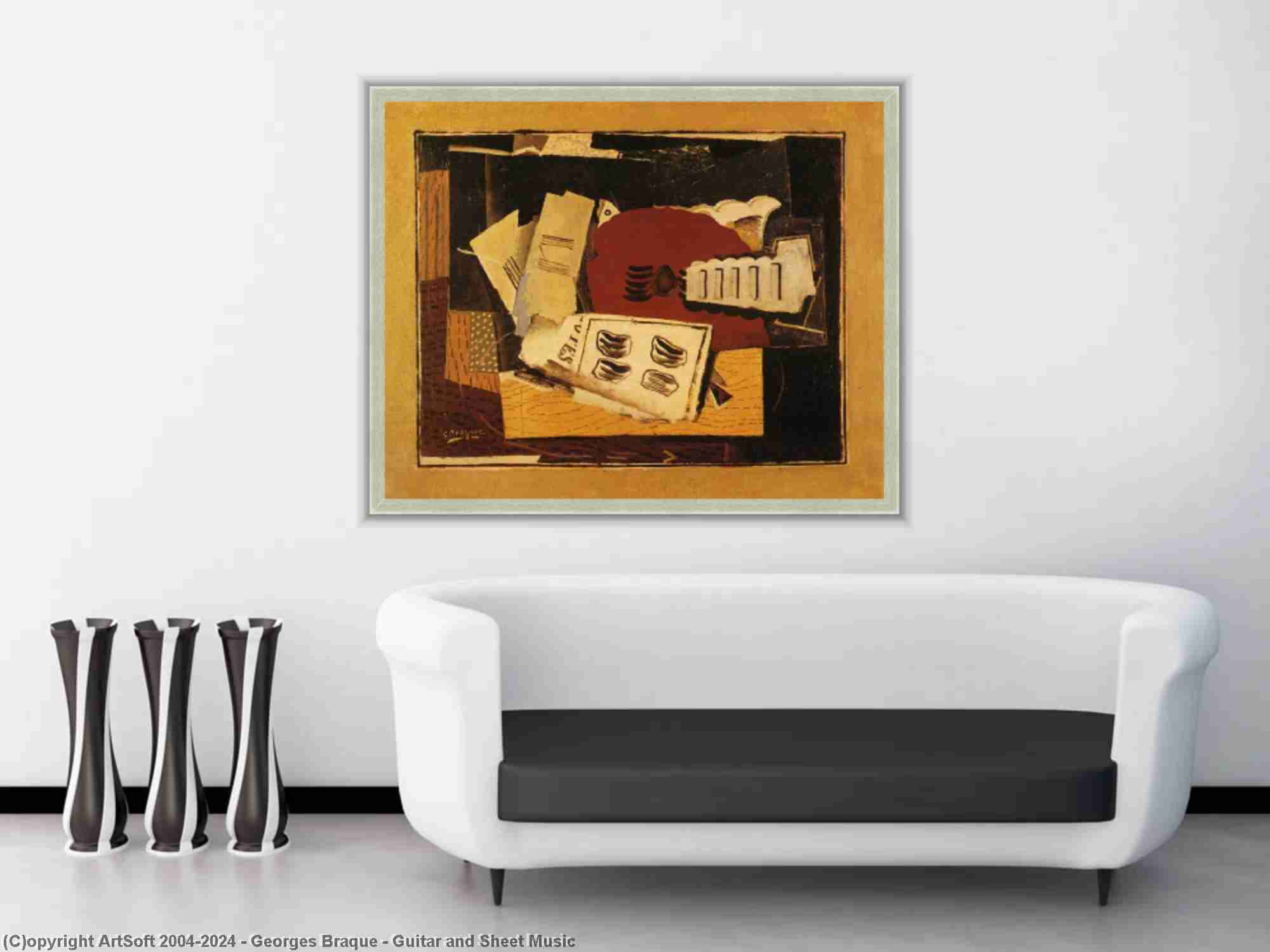 Georges Braque - Guitar and Sheet Music