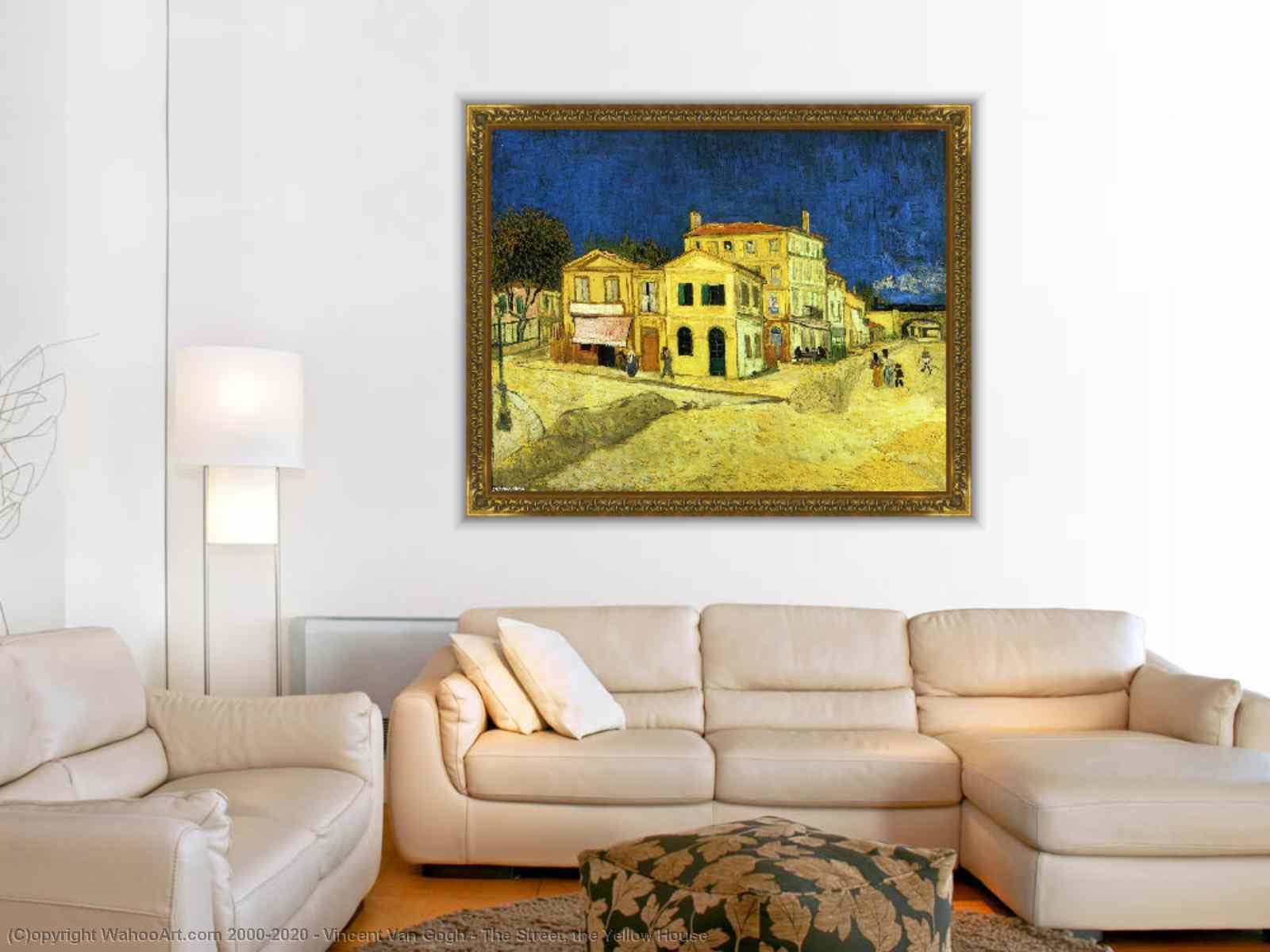 Vincent Van Gogh - le rue la  jaunes  maison sur