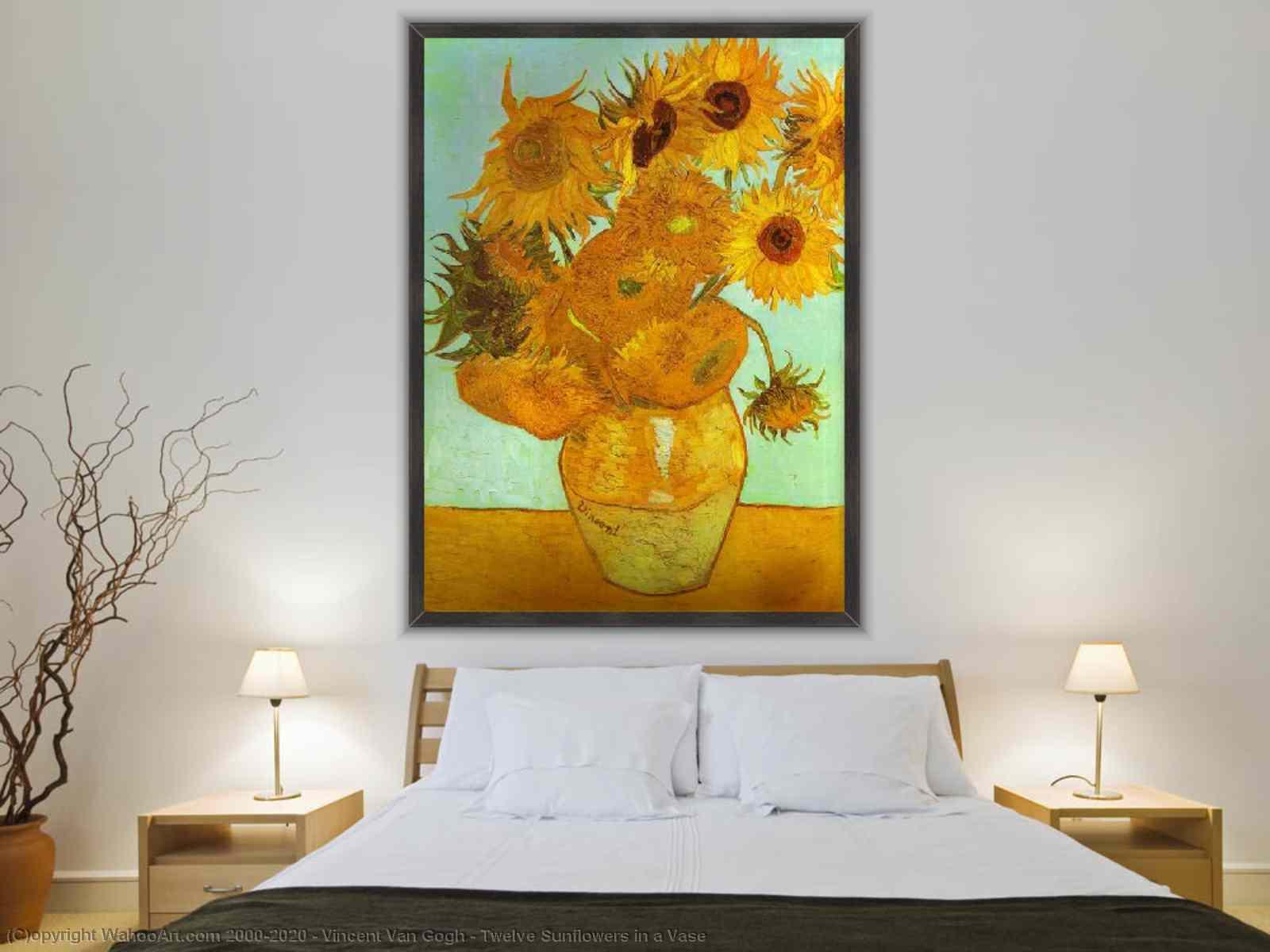 Vincent Van Gogh - douze tournesols dans un vase